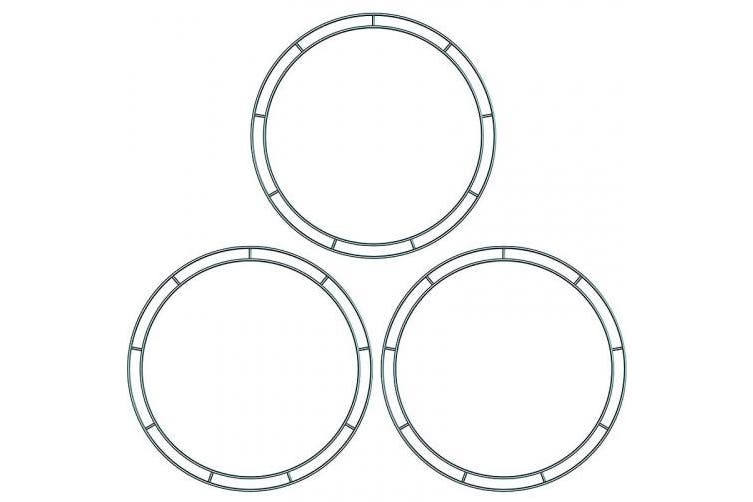 (12 Inches) - Flat Wire Rings Wire Wreath Frame Wire Wreath Making Rings for New Year Valentines Decoration (3, 30cm )