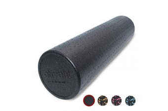 (60cm , Black) - ATIVAFIT Exercise Foam Roller Speckled Colours Muscle Roller Extra Firm High Density for Physical Therapy, Deep Tissue Muscle Massage