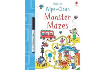 Wipe-Clean Monster Mazes (Wipe-Clean Books)