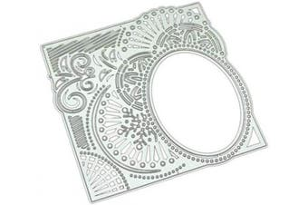 BUZHI Metal Cutting Dies DIY Cutting Mould Ellipse Lace Die Embossing Stencils for Card Making Scrapbooking