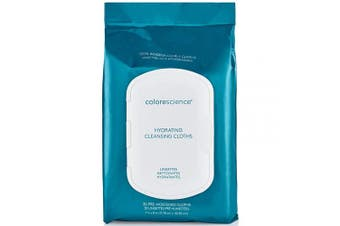 Colorescience Hydrating Cleansing Cloths, 30 Pre-Moistened Cloths, Fragrance-Free & Hypoallergenic