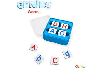 Osmo - Genius Words Game - Ages 6-10 - Interactive Letter Recognition, Phonics, Sight Words & Spelling - for iPad and Fire Tablet Base Required
