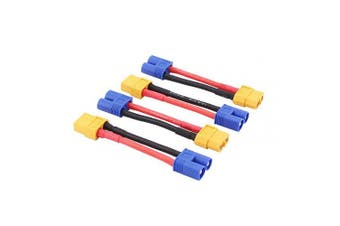BDHI 4pcs Male EC3 to Female XT60 XT-60 Connector Adapter Converter Cable 14awg 5.1cm (B112-4)