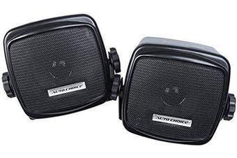 Auto Choice Retro Style Car Audio Hi-Fi Stereo Speakers Shelf Mount with Bracket