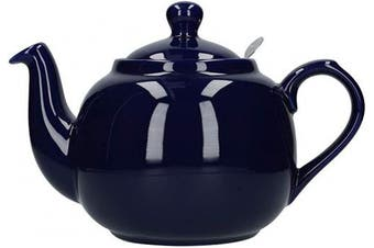 (6 Cup, Cobalt Blue) - London Pottery Farmhouse Loose Leaf Teapot with Infuser, Ceramic, Cobalt Blue, 6 Cup (1.5 Litre)