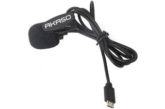 AKASO V50X External Microphone for AKASO V50X and Dragon Touch Vista 5 Action Camera Only