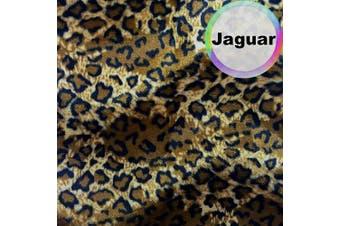 (5 Yard, Jaguar) - Barcelonetta | Animal Print Fur Fabric | Velboa Fabric | Faux Animal Fur | Short Pile | Animal Texture | 160cm Inch Wide | DIY Crafts, Decoration, Upholstery (Jaguar, 5 Yard)