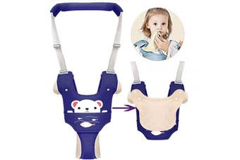 (Type 2) - Autbye Baby Harness for Walking Toddler Walking Assistant Leash Kids Safety Walking Harness Walker Belt for Baby 6-36 Months (Blue)