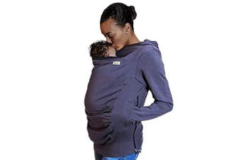 (Small) - Boba Hoodie, Grey (Small) Baby Carrier Cover Hooded Sweatshirt