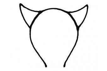 (Black) - Bonnie Z. Leonardo Devil Horns Headband Chiffon Black