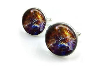 (Bronze) - Nebula Cufflinks| cuff links| Orion Nebula| universe cufflinks groomsmen gift| gift for men| gift for him