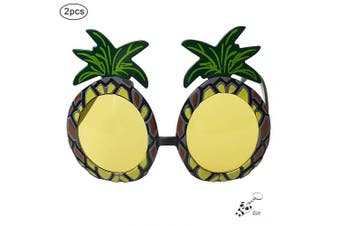 nuoshen 2 Pieces Pineapple Sunglasses,Novelty Hawaiian Fancy Dress For Hawaiian Themed Party