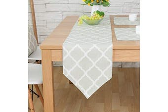 """(Green Lingge, 12"""" x 47""""(32*120cm)) - Bestenrose Table Runner Home Tablecover Decorative 2 sides Cotton Linen Classic Table Bedding Mat Dining Room Party Holiday Decoration (Green Lingge, 12"""" x 47""""(32 * 120cm))"""
