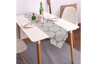 """(Flower, 12"""" x 82""""(32*210cm)) - Bestenrose Table Runner Home Tablecover Decorative 2 sides Cotton Linen Classic Table Bedding Mat Dining Room Party Holiday Decoration (Flower, 12"""" x 82""""(32 * 210cm))"""