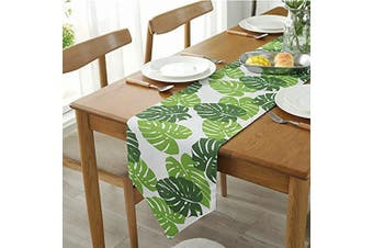 """(Green, 12"""" x 47""""(32*120cm)) - Bestenrose Table Runner Home Tablecover Decorative 2 sides Cotton Linen Classic Table Bedding Mat Dining Room Party Holiday Decoration (Green, 12"""" x 47""""(32 * 120cm))"""
