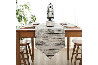"""(Wooden, 12"""" x 82""""(32*210cm)) - Bestenrose Table Runner Home Tablecover Decorative 2 sides Cotton Linen Classic Table Bedding Mat Dining Room Party Holiday Decoration (Wooden, 12"""" x 82""""(32 * 210cm))"""