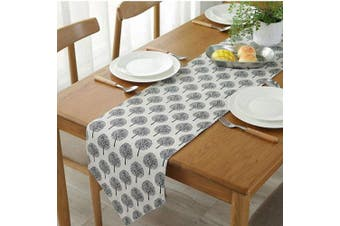 """(Beige Tree, 12"""" x 70""""(32*180cm)) - Bestenrose Table Runner Home Tablecover Decorative 2 sides Cotton Linen Classic Table Bedding Mat Dining Room Party Holiday Decoration (Beige tree, 12"""" x 70""""(32 * 180cm))"""