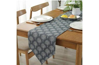 """(Grey Tree, 12"""" x 70""""(32*180cm)) - Bestenrose Table Runner Home Tablecover Decorative 2 sides Cotton Linen Classic Table Bedding Mat Dining Room Party Holiday Decoration (Grey Tree, 12"""" x 70""""(32 * 180cm))"""