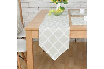 """(Green Lingge, 12"""" x 82""""(32*210cm)) - Bestenrose Table Runner Home Tablecover Decorative 2 sides Cotton Linen Classic Table Bedding Mat Dining Room Party Holiday Decoration (Green Lingge, 12"""" x 82""""(32 * 210cm))"""
