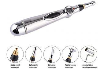 Techno Zone Acupuncture Pen with 5 Massage Head Function Energy Pain Therapy Relief