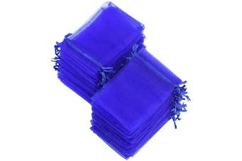(7cm x 9cm, Royal Blue) - FiveSeasonStuff Organza Wedding Favours Gift Bags Jewellery Birthday Party Baby Shower Arts & Crafts Gift Wrapping Candy DIY Pouches (7cm x 9cm, Royal Blue)