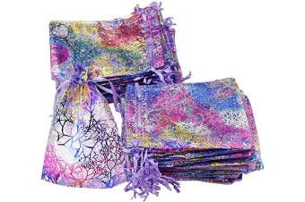 (10cm x 15cm, Mix Colour Purple) - FiveSeasonStuff Organza Wedding Favours Gift Bags Jewellery Birthday Party Baby Shower Arts & Crafts Gift Wrapping Candy DIY Pouches (10cm x 15cm, Mix Colour Purple)