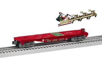 Lionel Trains - Santa's Mobile Rest Stop Flatcar, O Gauge