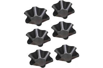 Tortilla Pans Set, Non-Stick Taco Salad Bowl Shell Maker Moulds, Carbon Steel Baking Moulds, Set of 6 Tostada Bake