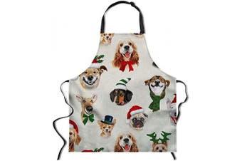 (70cm  x 70cm , Dog) - Allcute Women Men Christmas Kitchen Apron with Adjustable Neck Cute Unique Cool Waterproof Aprons for Home Restaurant BBQ, 70cm x 70cm