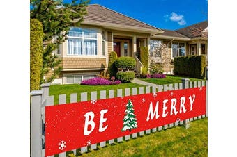 (Be Merry) - Colormoon Large Be Merry Banner, Christmas Banner, Christmas Decorations Party Supplies, Holiday Decorations, Indoor Outdoor (3m x 0.5m)
