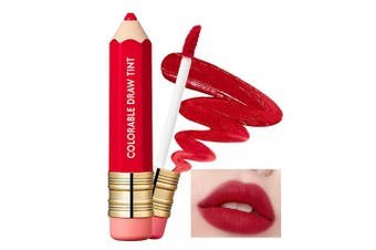 (09 Big Red) - It'S SKIN Colorable Draw Tint 3.3g 10 Colours - Cute Crayon Velvety Lip Tint Lipstick with Matte Finish, Air Light Formula with Long Lasting Intense and Vibrant Colour (09 Big Red)
