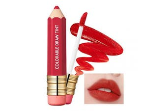 (01 Chili Pepper) - It'S SKIN Colorable Draw Tint 3.3g 10 Colours - Cute Crayon Velvety Lip Tint Lipstick with Matte Finish, Air Light Formula with Long Lasting Intense and Vibrant Colour (01 Chilli Pepper)