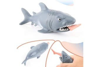 GEM Toys Squeeze Toys Stress Relief for Kids and Adults, Shark Squeeze Toys New Funny Stress Relief Toys, Halloween Party Gag Toys and Practical Joke Toys, Suitable for Anxiety,Autism and ADHD