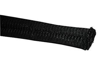(0.6cm  - 3m, Black) - Electriduct 0.6cm Gator Sleeve Braided Wrap Around Sleeving Wire Protection Cable Flexible Side Entry Conduit - 3m - Black
