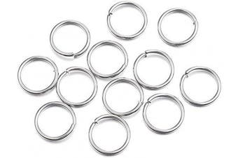 Craftdady 1000Pcs Stainless Steel Open Jump Rings 12mm Round 1.2mm Thick Jewellery Connectors Chain Links