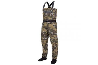 (X-Large, Stocking Foot) - Bassdash Veil Camo Chest Stocking Foot Fishing Hunting Waders, Breathable and Ultra Lightweight, in 7 Sizes for Men and Women