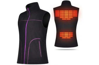 (Medium) - COVVY Heated Vest for Women Electric Warm Outerwear/w Battery Pack, Washable