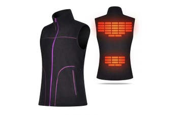 (Large) - COVVY Heated Vest for Women Electric Warm Outerwear/w Battery Pack, Washable