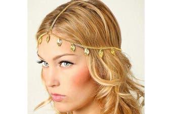 Deniferymakeup Leaf Wedding Bridal Prom Bohemian Boho Grecian Head Chain Hair Jewellery Head Piece Bride Glam Hair Accessories