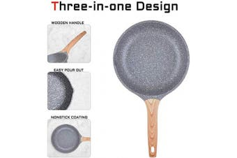 (24cm ) - Caannasweis Nonstick Pan, Nonstick Stone Frying Pan, Best Nonstick Omelette Skillet with Soft Touch Handle, Induction Compatible (24cm )