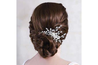 (Gold) - Asooll Wedding Crystal Hair Comb Bride Pearl Hair Piece Bridal Hair Accessories for Women and Girl (Gold)