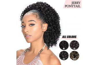 (1B#) - AISI BEAUTY Short Afro Curly Ponytail Hair Piece for African American Black Women Ponytail Extension Afro Drawstring Curly Ponytail for Women (1B#)