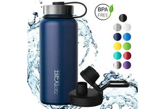 (Sapphire Blue, 710ml) - 720°DGREE Thermo Water Bottle noLimit – 410ml, 530ml, 710ml, 950ml 1200ml | Insulated Stainless Steel Flask + Free Sports Cap