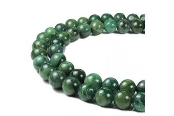 (Verdite AKA African Jade) - [ABCgems] African Verdite AKA African Jade (Grade AA- Beautiful Colour) Tiny 6mm Smooth Round Beads for Jewellery Making
