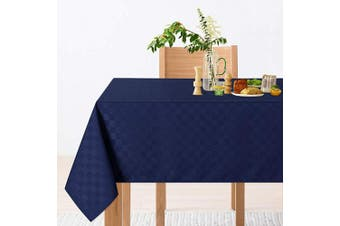 (130cm  x 130cm ,Square, Navy Blue) - CAROMIO Square Tablecloth,Waterproof Navy Blue Table Cloth/Table Cover for Square or Round Tables - Great for Buffet Table, Parties, Holiday Dinner (Square,130cm x 130cm , Navy Blue)