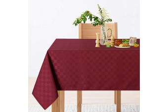 (150cm  x 300cm ,Rectangle/Oblong, Burgundy) - CAROMIO Rectangle Red Tablecloth,Stain Resistant,Waterproof and Spillproof Oblong Buffet Table Cloth Table Cover for Outdoor Picnic, Kitchen and Holiday Dinner(Rectangle,150cm x 300cm ,Burgundy)