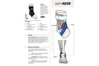 (Medium - Left, White) - Zamst A2-DX Strong Support Ankle Brace
