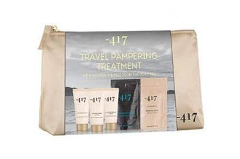 (Travel Kit) - -417 Dead Sea Cosmetics 5 Piece Dead Sea Treatment Kit - Complete Regimen- Relaxation Set with Mineral Bath, Mud Body Wrap, Foot & Hand Cream- Perfect Gift Set. Suitable for All Skin Types