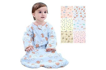 (6-12Mos, Blue Sheep(Spring/Autumn)) - Beyond Your Thoughts 100% Cotton Wearable Blanket Baby Sleeping Bag Spring/Autumn/Winter (3mos-6.5year)