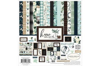 Carta Bella Paper Company CBHOA109016 Home Again Collection Kit Paper, Green, Blue, Woodgrain, Black, Teal